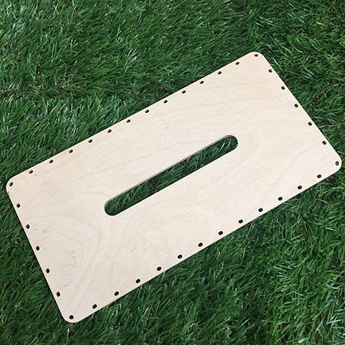 라탄공예재료 자작나무 합판 사각티슈 대 26x13.5cm 만들기
