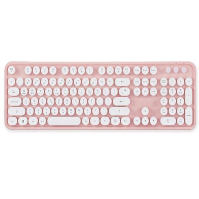 엑토 키보드 핑크 KBD 48 레트로 무선, 본상품선택, 본상품선택