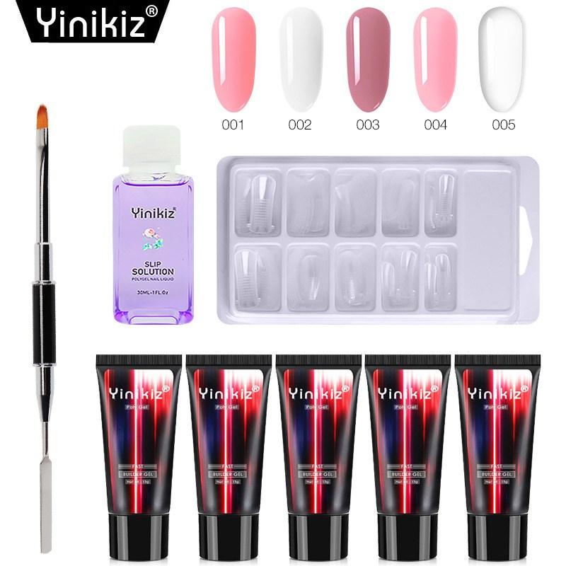 Yinikiz Yinikiz 폴리젤세트 5색포함 가성비셀프 네일연장세트, 단일상품개, 6. S14706
