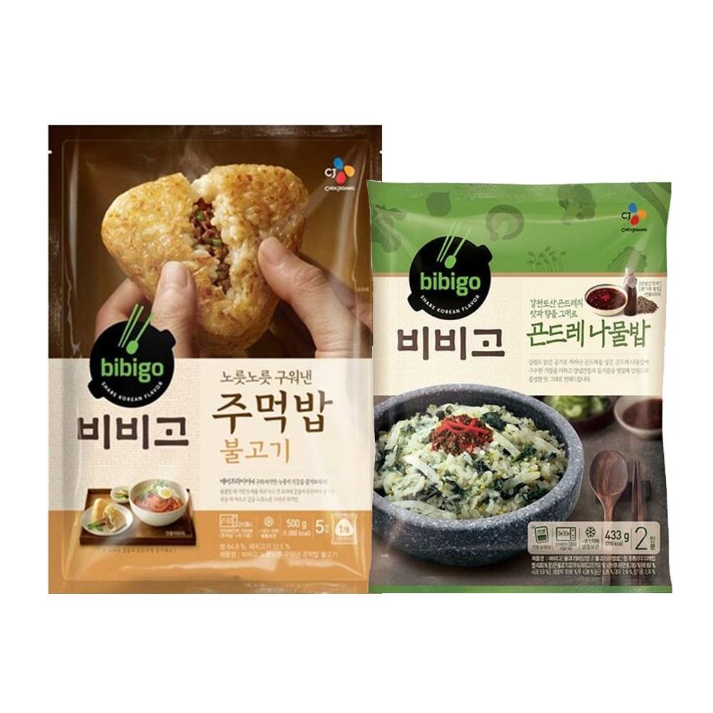 (냉동)비비고 곤드레나물밥433gx1개+주먹밥(불고기)볶음밥500gx1개, 1세트