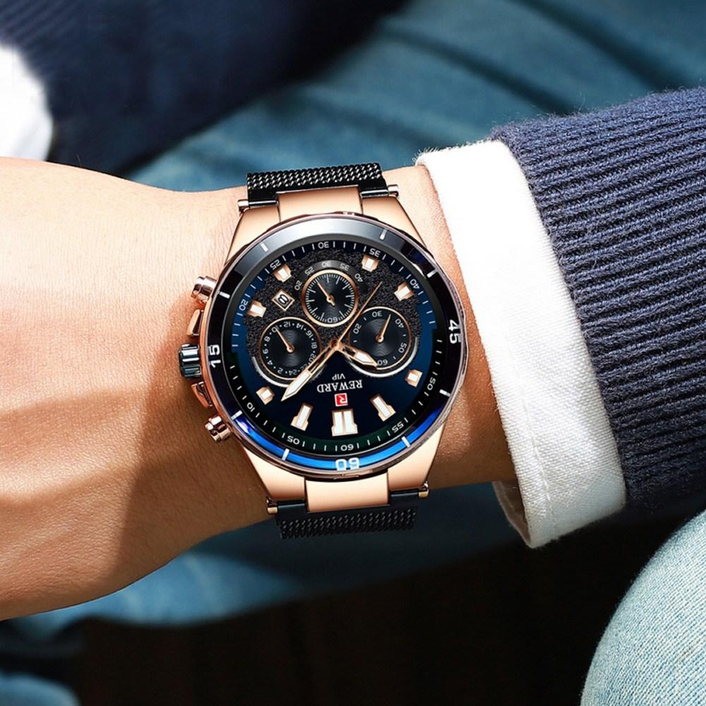 LIGE 바바존 메쉬 남자 시계 손목시계 정품패키지 증정 남자손목시계 남성손목시계 남성시계 003