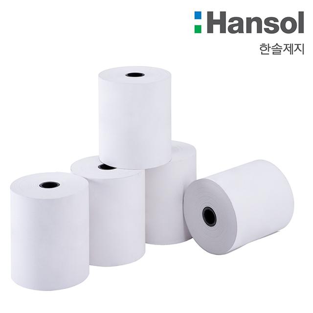 친환경 (BPA FREE) 한솔제지 정품 POS 포스용지 검정글씨 감열지, 100롤