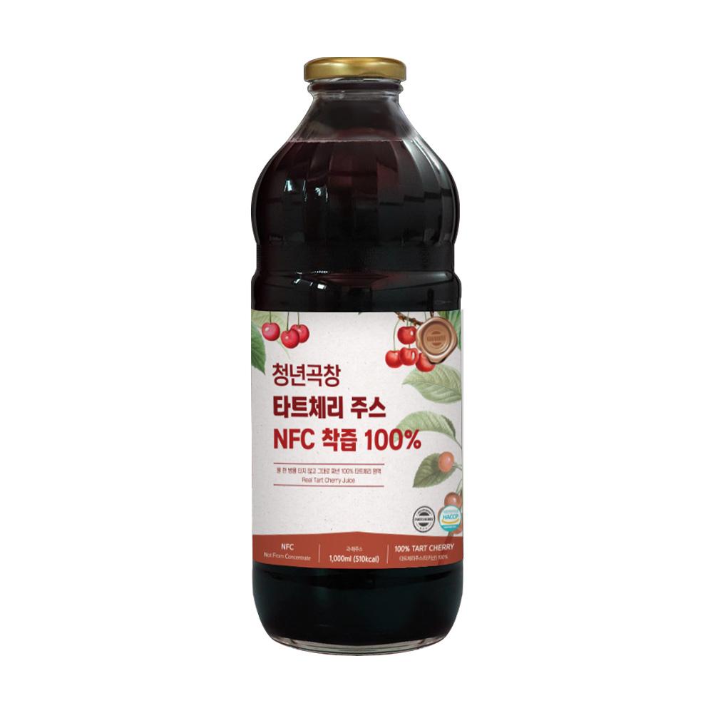 청년곡창 타트체리주스 NFC 착즙 100% 1L 1000ml 3개구매시 1개더, 1개