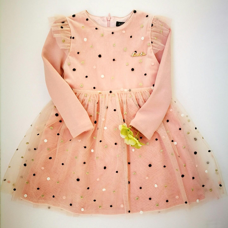 프랜치캣 핑크 도트샤 원피스