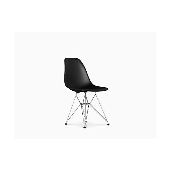Herman Miller Eames Molded Plastic Dining Chair White Shell/Chrome Base, Black Shell/Chrome Base