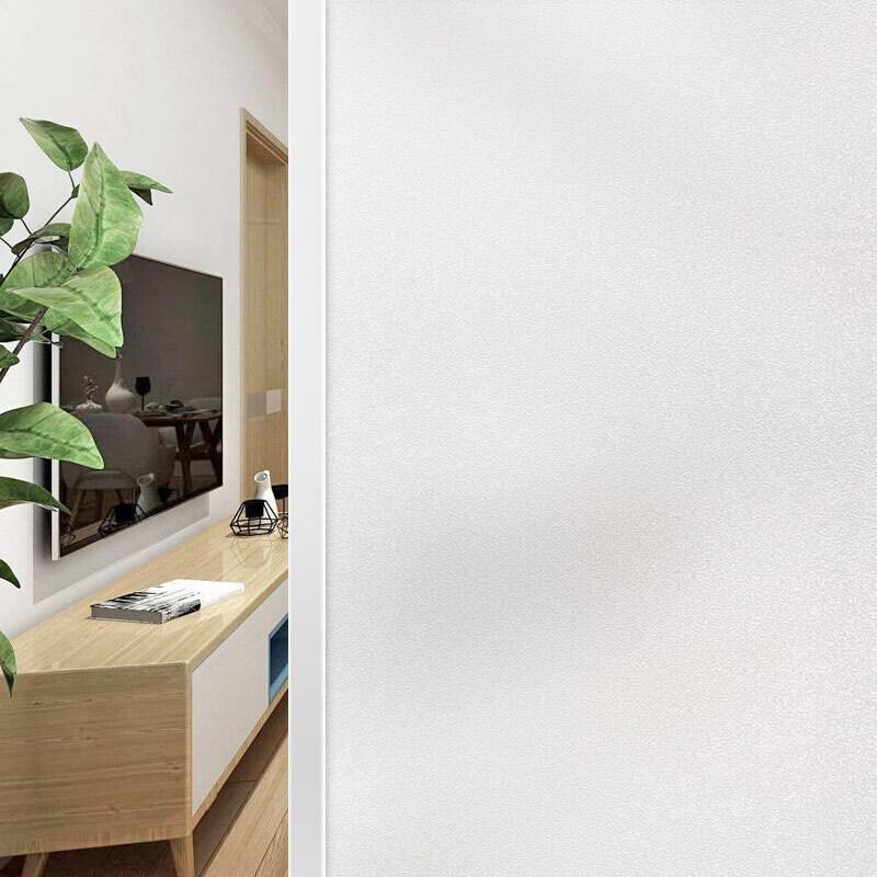 주거 면제 정전기 스티커 유리 막 투명 하지 않 은 사무실 유리 패 치 창 스티커 60 * 200 cm 흰 안개 모래