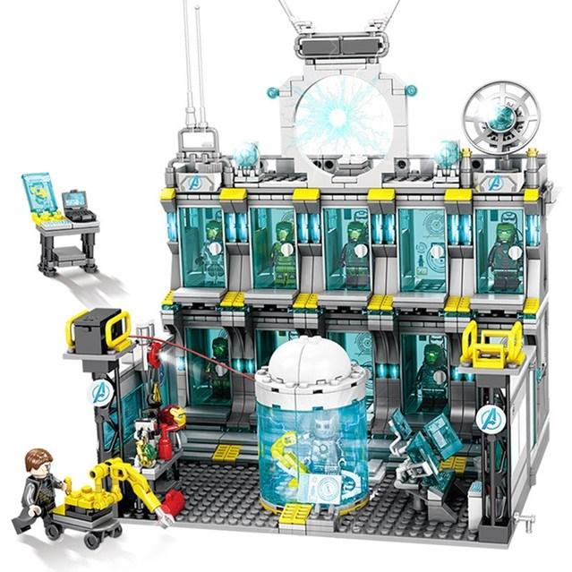 레핀 LEPIN sy1187 슈퍼히어로즈 아이언맨 연구소 기지 미피8종 포함 레고호환 레고호환블록