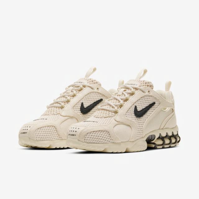 나이키 x 스투시 에어 줌 스피리돈 케이지 2 포실 베이지 (Nike Air Zoom Spiridon Cage Stussy Fossil) CQ5486-200