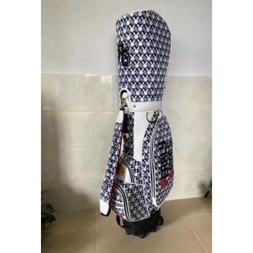 골프 여성 가방 PEARLYGATES 골프백 남녀 동글래머 PG 스마일드라이버백, 02 블랙-19-4323884075