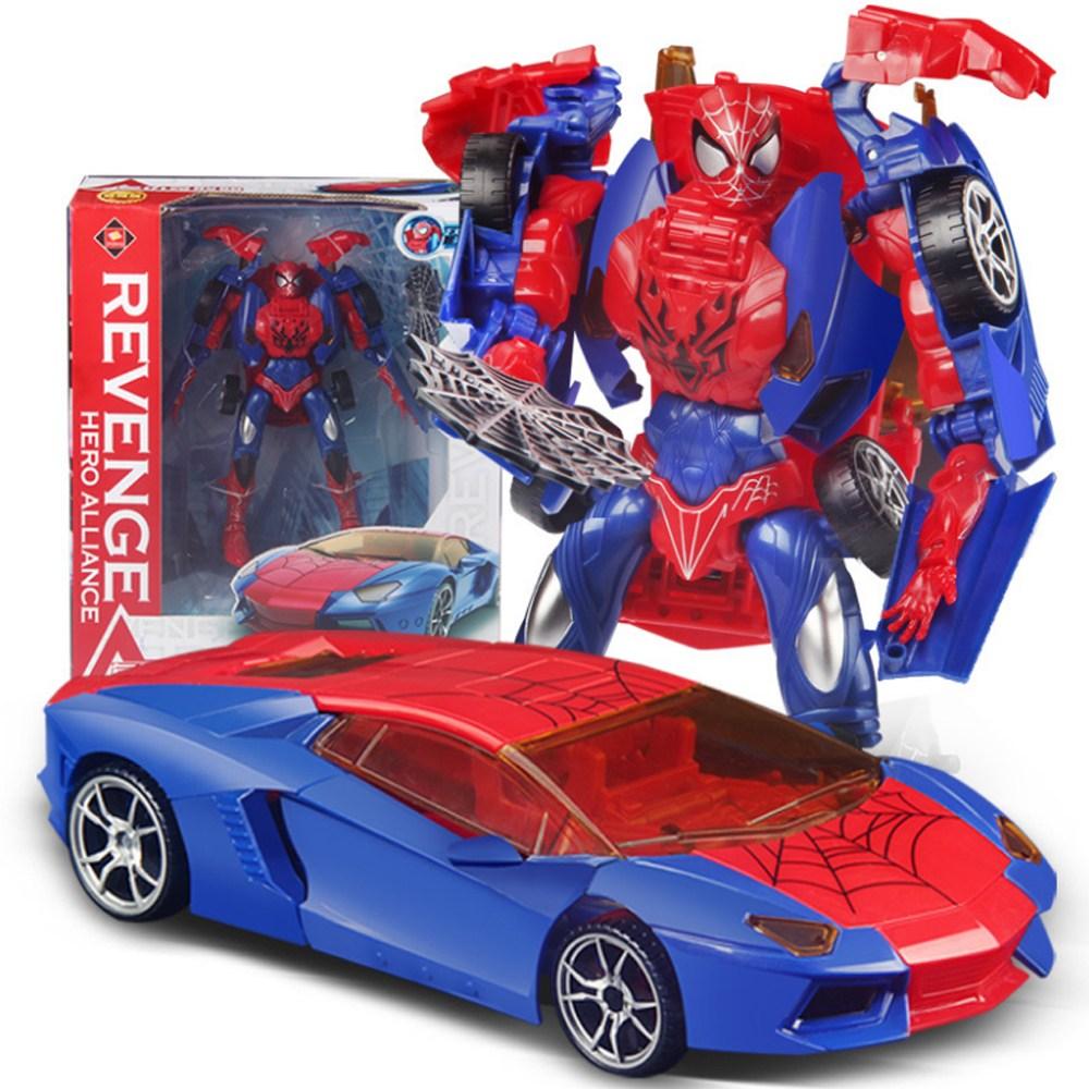 DaOn 스파이더맨 변신 자동차 수동변형 로보트 장난감