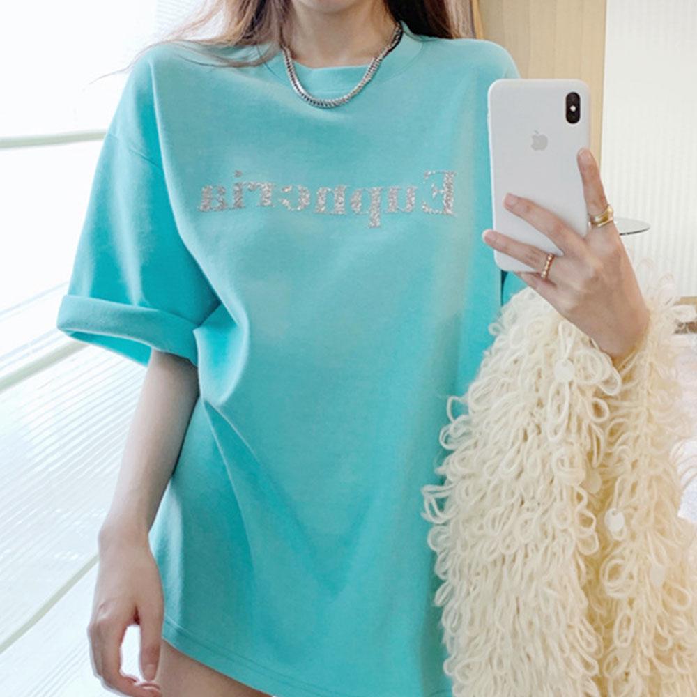 [여성패션] 로지 글리터 여성반팔티셔츠 1+1+1(국내발송) - 랭킹56위 (12900원)