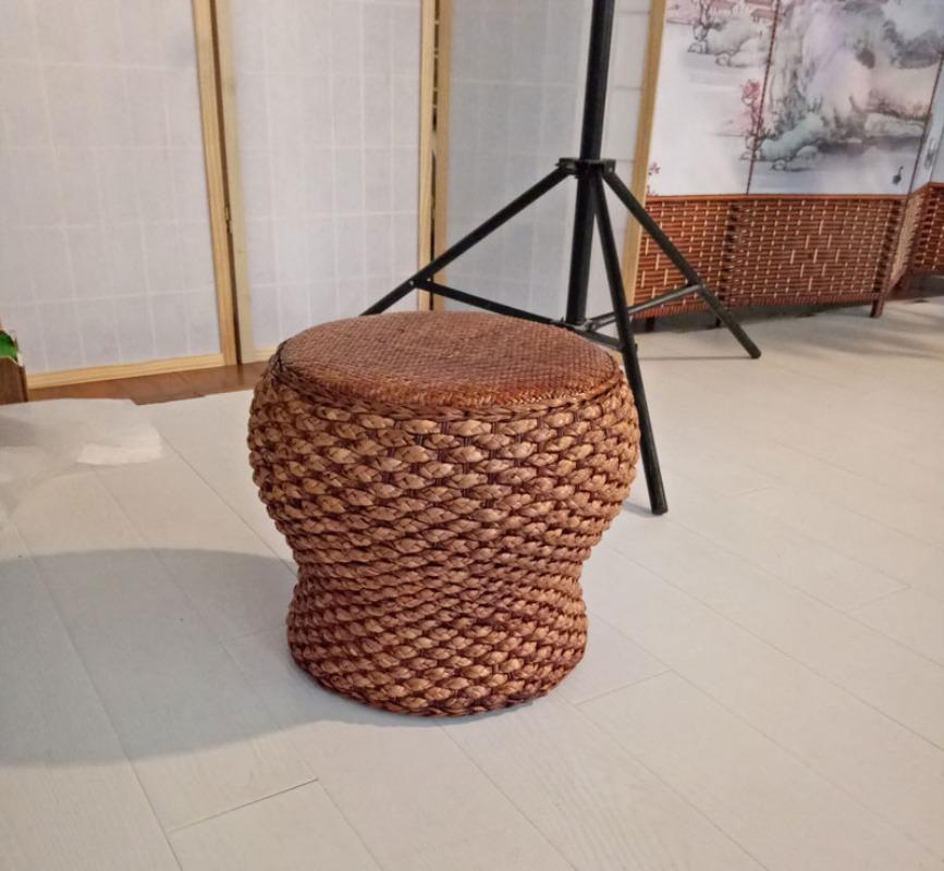 라탄의자 미니 원형라탄의자 라탄스툴 밀짚 등나무 인테리어의자, 선택7