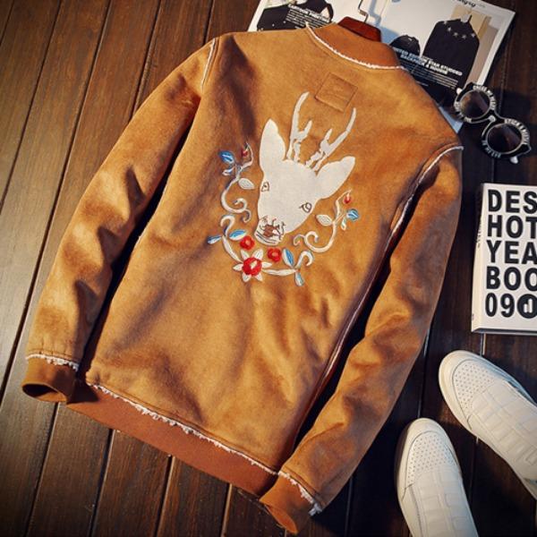 가바바 남성 양모 스웨이드 자켓 따뜻함이 느껴지는 자켓 G25180