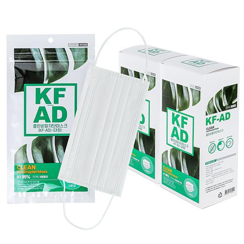 클린 KF-AD 덴탈 마스크 100매 비말차단 식약처허가 대형, 1개