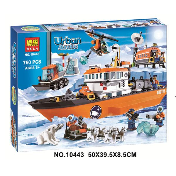 WHLP 중국레고 시티 북극 탐험 시리즈 쇄빙선 기선 60062 10443 호환레고