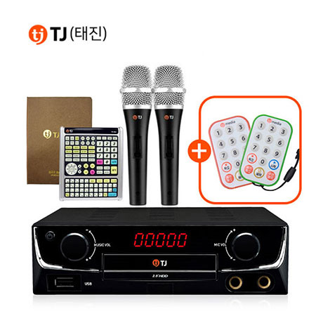 TJ미디어 TKR-360CK 태진 가정용 노래방반주기 마이크세트 노래방기계, TKR-360CK+유선마이크  TM-G20 2개