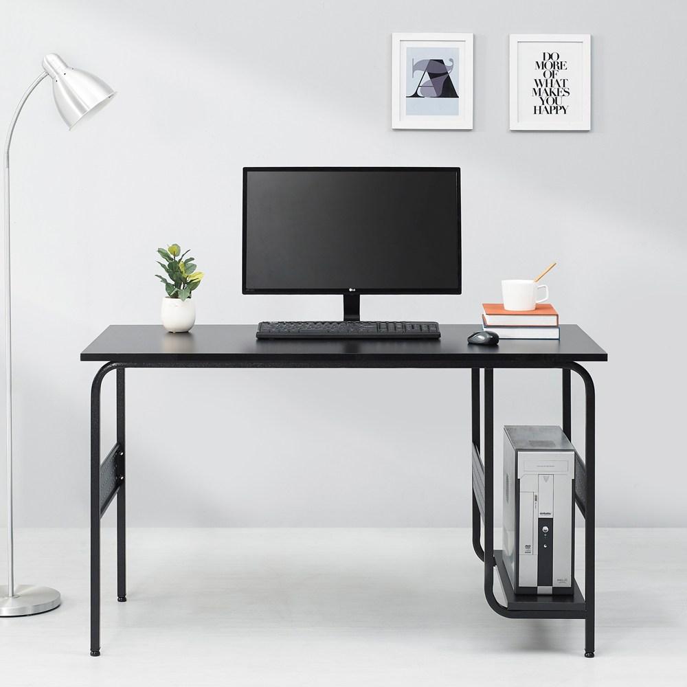 누마 감마 1인용 2인용 컴퓨터 책상, CD1200-블랙