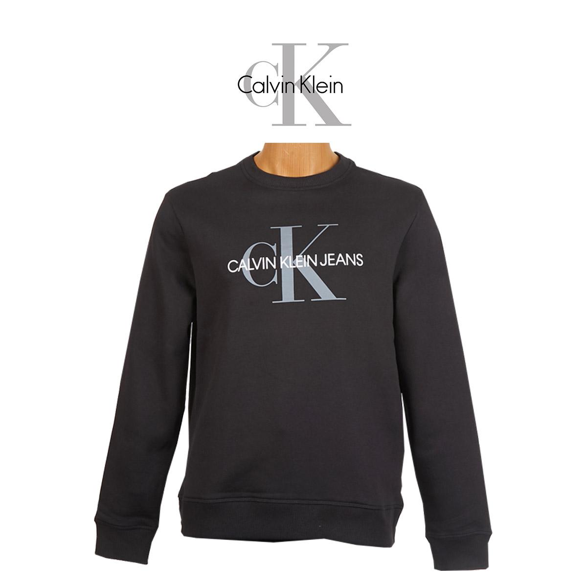 캘빈클라인 남성 모노그램 맨투맨 스웨터 블랙