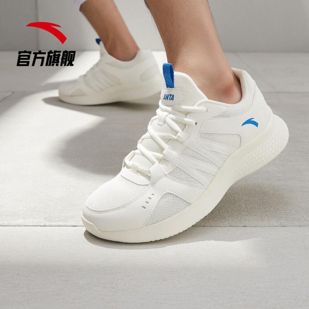 ANTA 안타 남자 신발 런닝 화 2020 여름 트 렌 드 남성 브랜드 캐 주 얼 운동화 아이보리 / 중 청 - 17 (남 40)