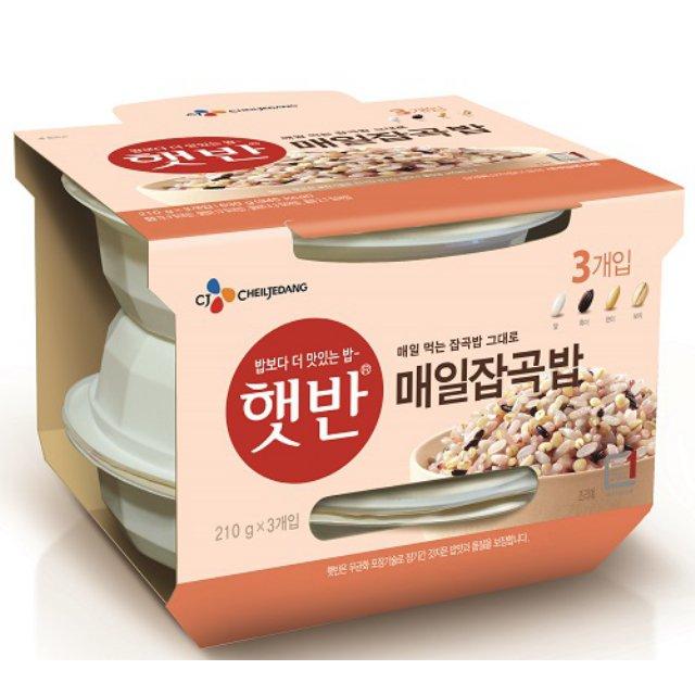 CJ 햇반 매일잡곡밥 210Gx3개입, 210g, 3개