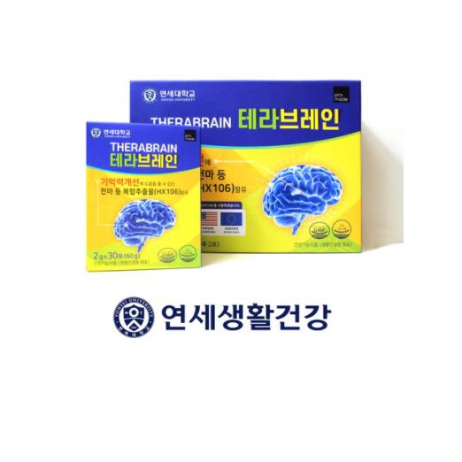 연세 테라브레인 수험생 직장인 영양제 뇌 기억력 집중력 1BOX, 60개입, 2박스