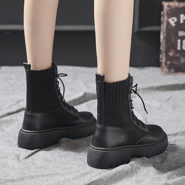 이우미 여성 워커 로우 가죽 부츠 앵클부츠 키높이 신발 패션 캐주얼 부츠LQ083