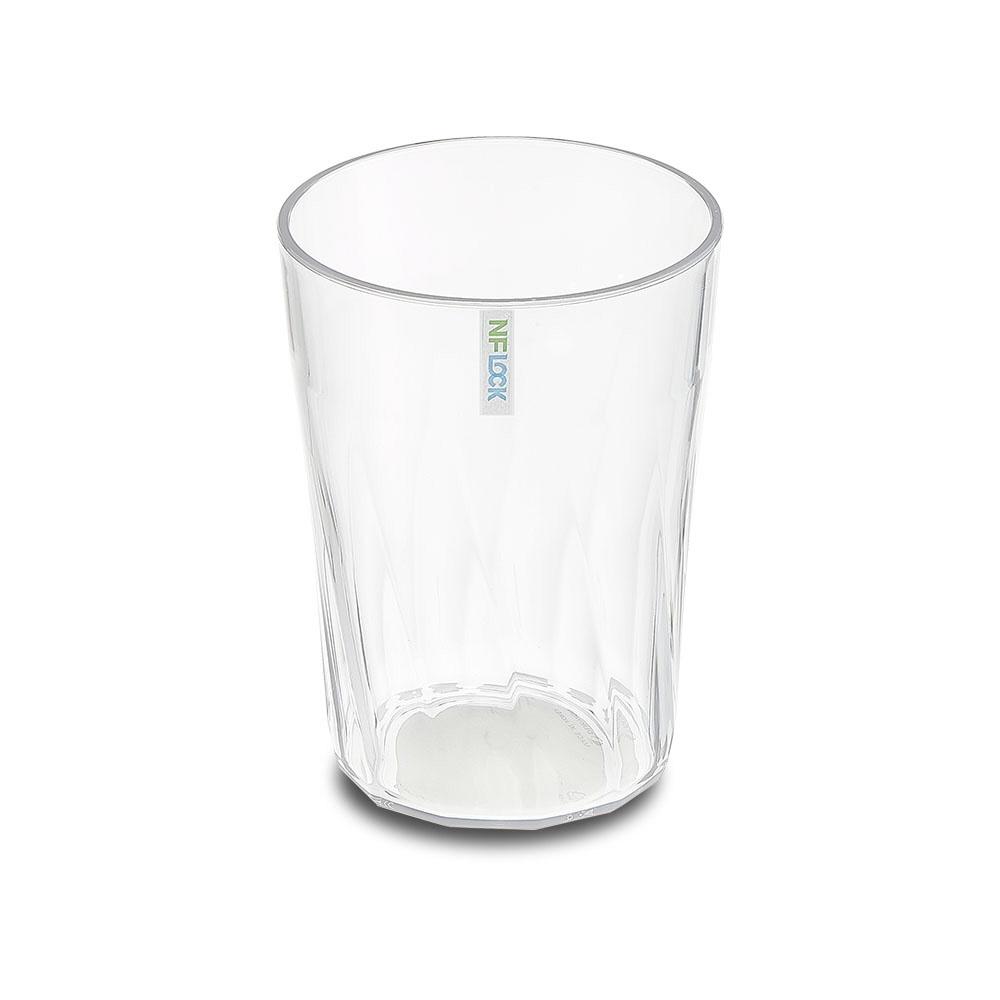 엔에프락 트라이탄컵 안깨지는 투명 물컵 10개, 투명/트위스트