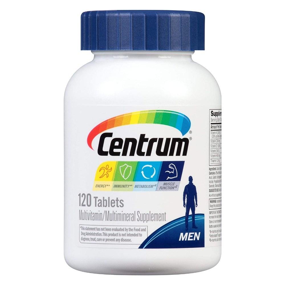 센트룸 Centrum 센트럼 포맨 남성용 종합비타민 120정, 1개