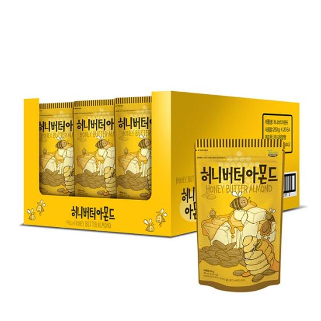 탐스팜 허니버터아몬드, 20개, 210g