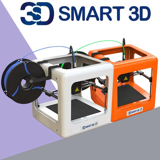 [한국 공식 정품] SMART3D MINI 3D프린터 가정용 교육용 입문자용, 01. 화이트