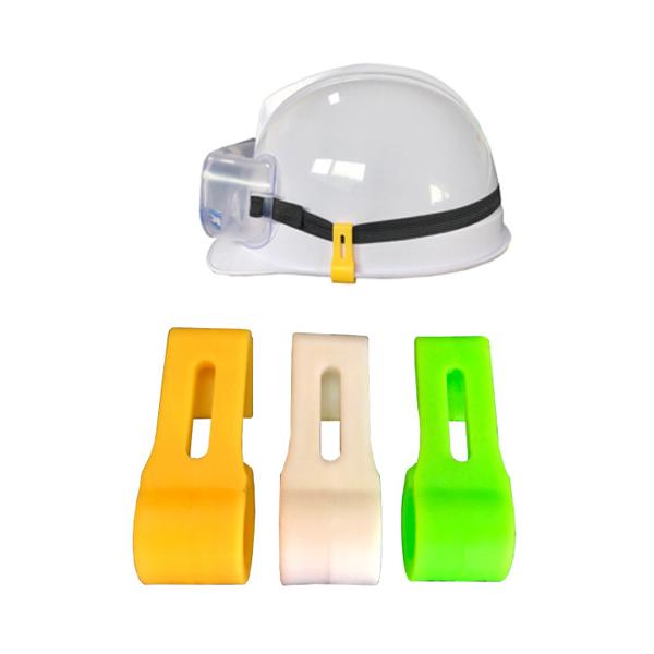 안전모 고정 클립 1봉 3PCS 고글밴드 헤드랜턴, 형광(1봉 3개입) (POP 1792394773)