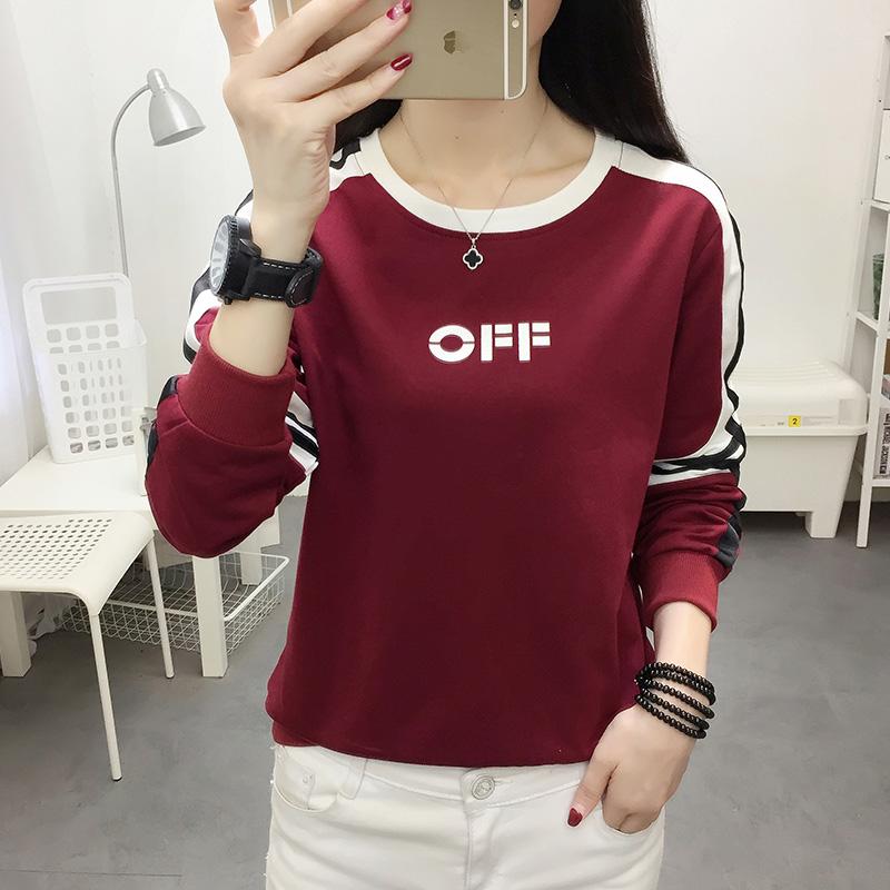 라운드넥 레터링 티셔츠