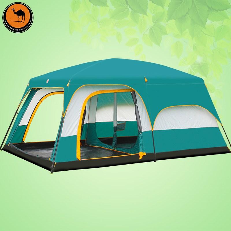 차박텐트 허브 돔 쉘터 큐브 도킹텐트 거실 에어돔, 방2 거실 1 개 텐트
