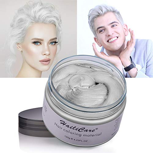 헤어왁스 HailiCare Hair Wax 4.23 oz Professional Pomades Natural Matte Hairstyle Max for Men Women, Color = White, 본문참고, 본문참고