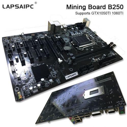 [해외] LAPSAIPC 보드 B250 명나라 전문가 1% 테스트 마더 보드 비디오 카드 인터페이스 지원 GTX 1050TI 1060TI 한 암호화 MINIG B250, 상세내용표시