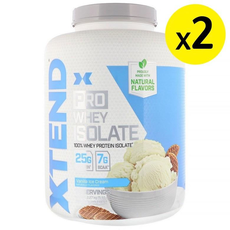 Scivation Xtend Pro 분리 유청 바닐라 아이스크림 5lb (2.27kg) 2개, 선택