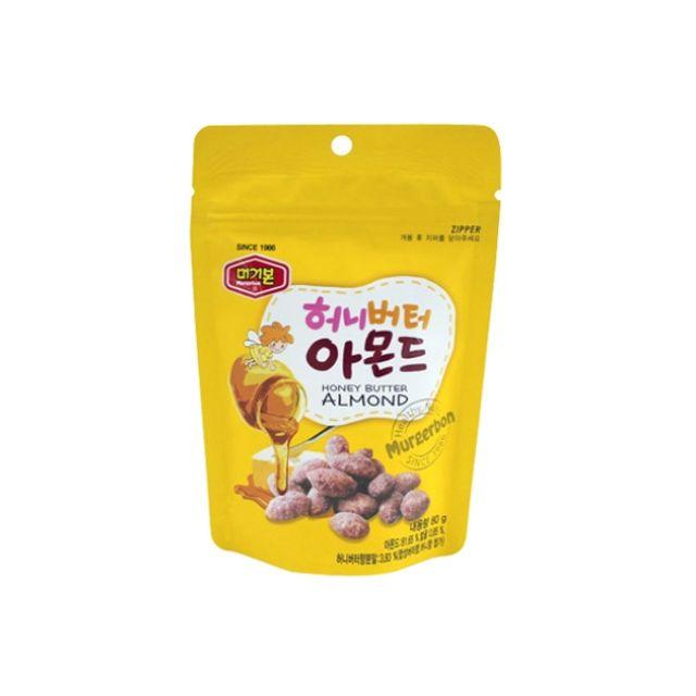 머거본)허니버터 아몬드80g x 5봉(어린이집 유치원 부모님 엄마 아빠 생일 선물), 1