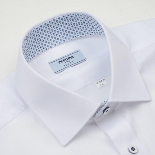 레노마 RKFSL0 104 WH 스판 슬림 긴소매 셔츠