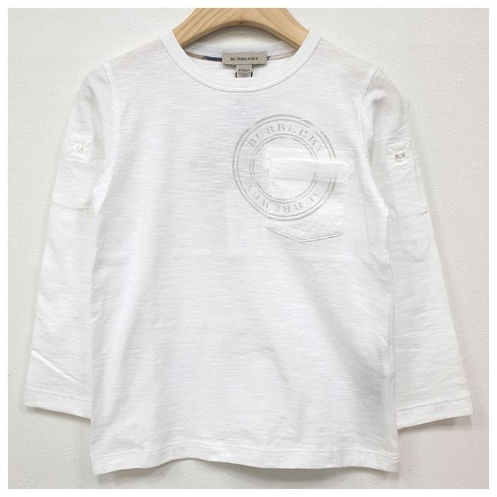 버버리 키즈 포켓 긴팔 티셔츠 B25896 100 국내배송