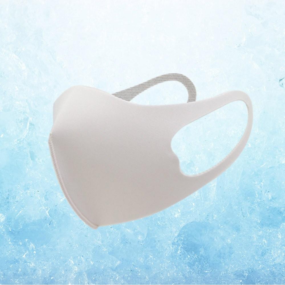 프릴리 냉감소재 구리섬유 향균기능 시원하고 편한착용감 입체 여름마스크 화이트, 1개