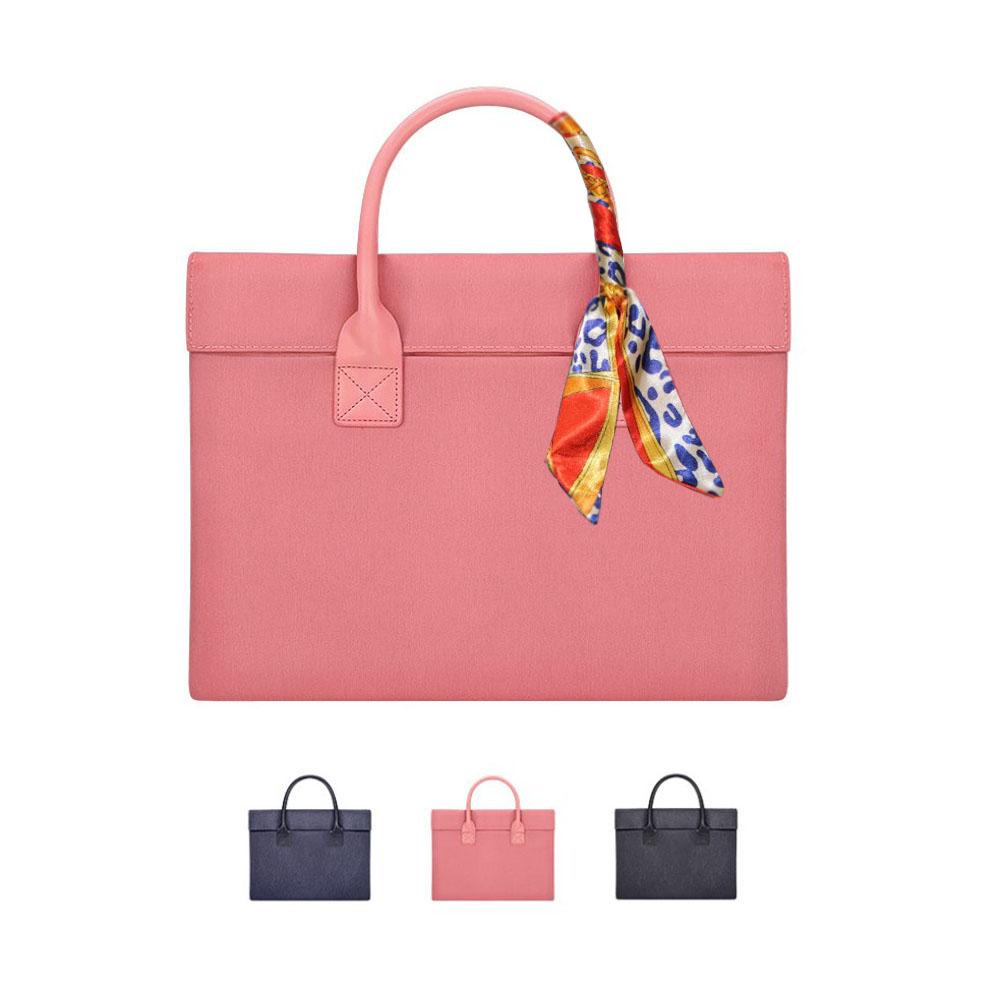 다올 워킹토트 노트북파우치 15인치 17인치 서류가방, 핑크