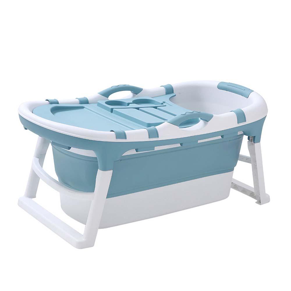 이동식 미니 접이식 반신욕조 성인 원룸 1인 목욕통, 1.2미터커버(O), 블루