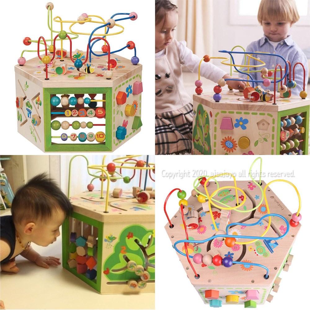 7가지 놀이 유아 장난감 롤러코스터 10개월 아기교구, 상.세.확.인