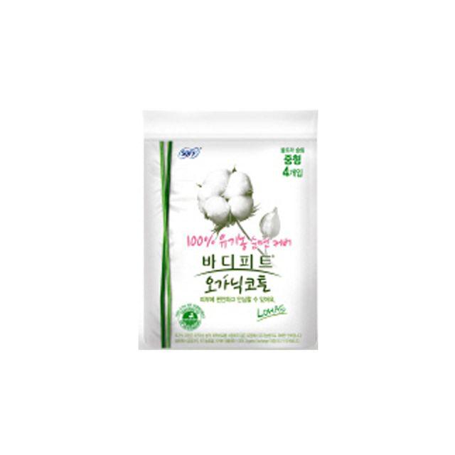 Joy엘지)쏘피BF 오가닉코튼 생리대 울슬중 4P(지퍼백), 1