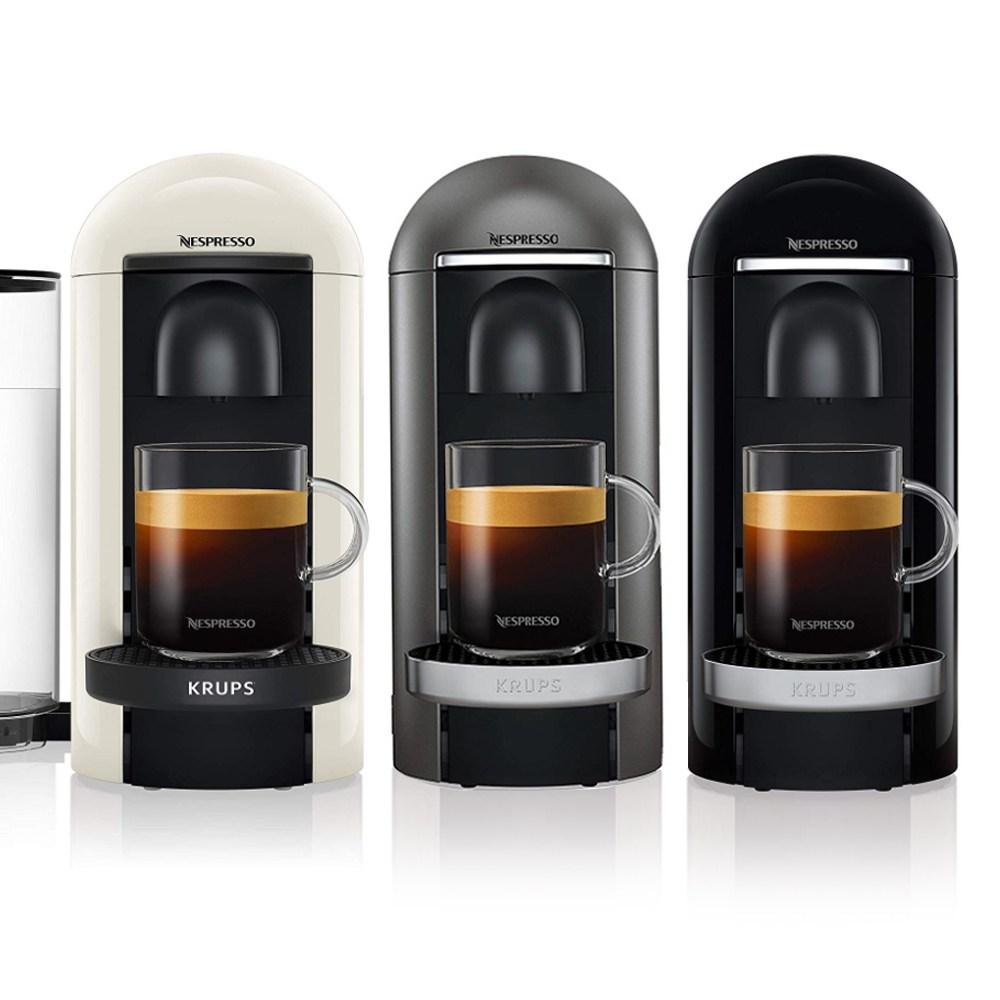 네스프레소 버츄오 플러스 캡슐 커피머신 전모델 독일 재고보유 즉시발송, 05.크룹스 사각 블랙(캡슐포함)
