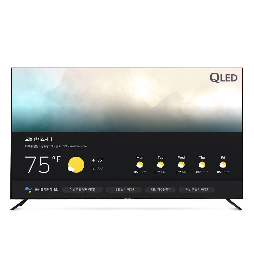 더함 75인치 안드로이드 스마트 TV LG IPS 퀀텀닷 U751QLED, 수도권 스탠드 기사설치
