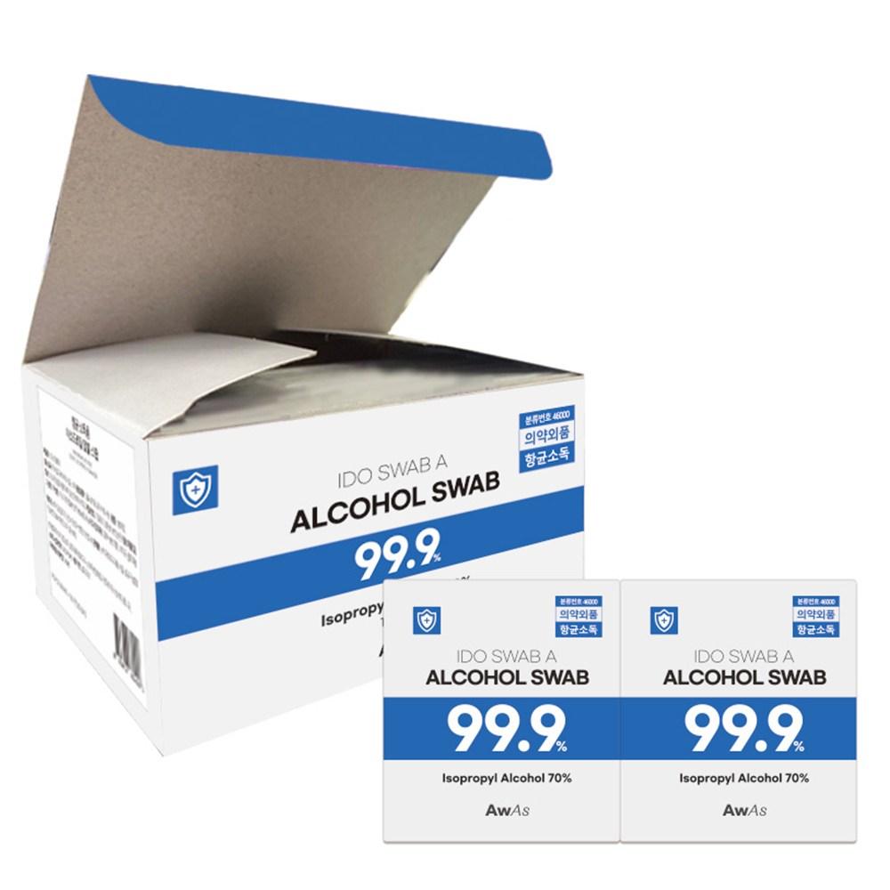 AWAS 알콜스왑 100매 에이더블유에이에스, 단품