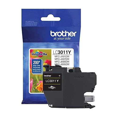 Brother Printer LC3011BK Singe Pack Standard Cartridge Yield Up to 200 Pages LC3011 Ink Black, 본문참고, 옵션 4 Color = Yellow