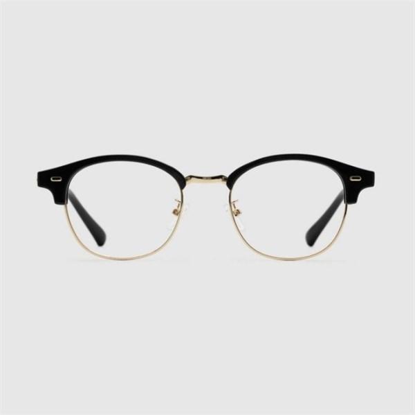 블루엘리펀트 RONEE gold black 안경 동그란얼굴형 검은테