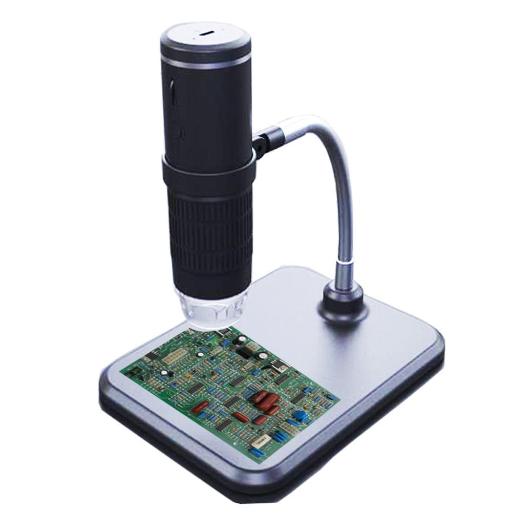 2.0MP 다기능 무선 현미경 WIFI 휴대용 고화질 전자 8 조정 가능한 밝기 LED 조명, 없음